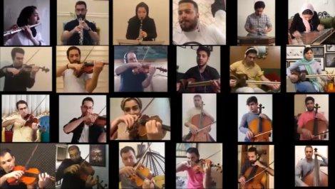 اجرای قطعه «سبکبال» در خانه توسط اعضای ارکستر ملی ایران