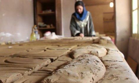 سفر به کارگاه سفال «سمیه اسلامی» در ساری