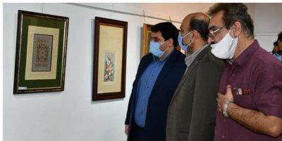 افتتاح دومین نمایشگاه نگارگری در قائمشهر