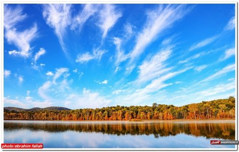 طبیعت هفت رنگ دریاچه الندان ساری
