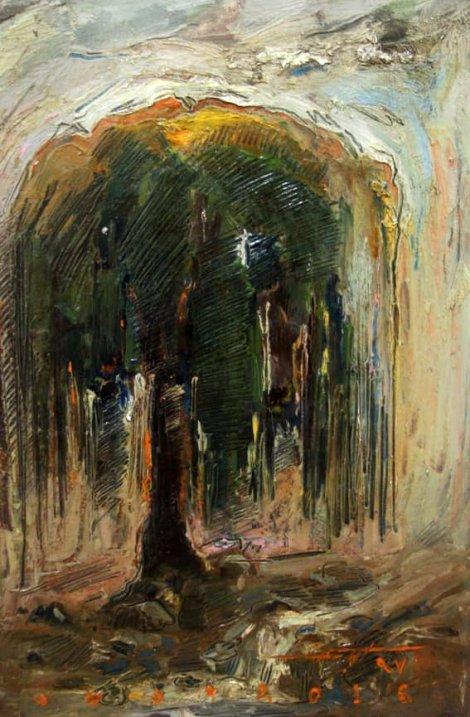نمایشی از احساس  بر روی قاب نقاشی