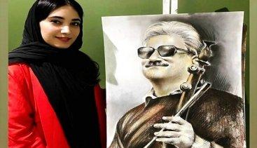 گفت و گو با نقاش با استعداد قائمشهری زهرا سیدنژاد