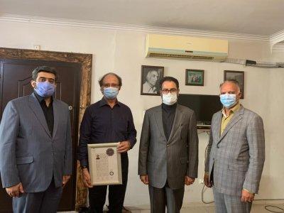 گواهینامه درجه یک هنری به علیجهاندار و محمد سعیدشریفیان اهدا شد