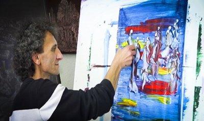 نقاش مازندرانی برگزیده دومین«پروژه هنری خور»شد